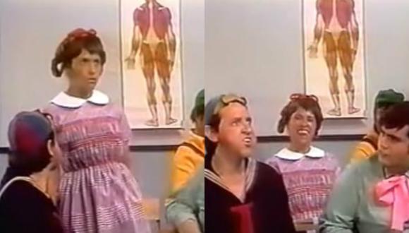 """Elizabeth, la niña """"sabelotodo"""" de """"El chavo del 8"""". (Foto: Captura de video)"""