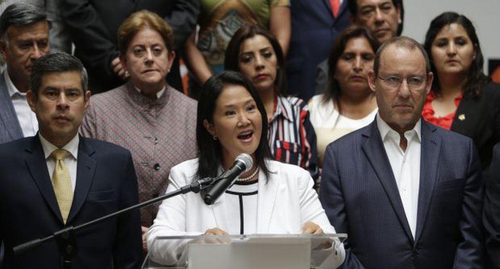 Keiko Fujimori reiteró que no existió alguna reunión con el suspendido juez supremo César Hinostroza. (Foto: Archivo El Comercio)