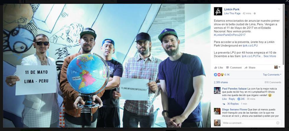 Linkin Park en Lima: la banda confirma el concierto - 3