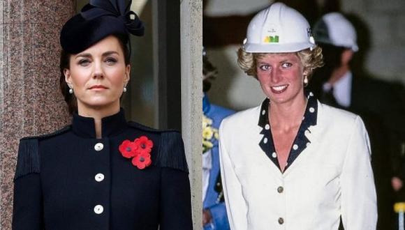Catalina de Cambridge suele tener presente a la madre de su esposo, Diana de Gales, en la elección de su vestimenta para ocasiones especiales. (Foto: @kensingtonroyal / Instagram)