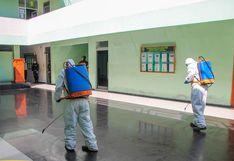 Coronavirus en Perú: fumigan y desinfectan instalaciones de la Policía en Chimbote
