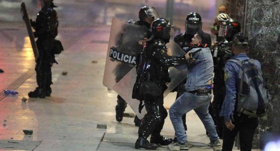 La primera protesta del año contra las políticas del Gobierno colombiano estuvo marcada por pequeñas concentraciones y disturbios en algunas zonas de Bogotá y Medellín. (EFE)