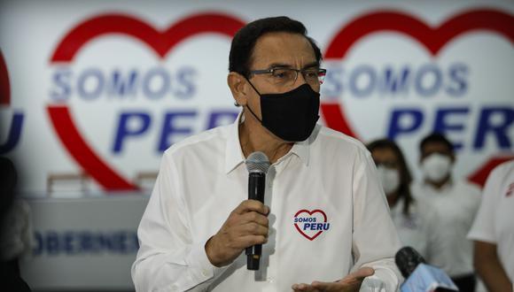 Martín Vizcarra es el candidato 1 de la lista de Somos Perú al Congreso por Lima Metropolitana. (Foto: Miguel Yovera/El Comercio)