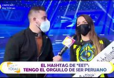 """""""Estás en todas"""": Paloma Fiuza y Pancho Rodríguez llenan de elogios al Perú"""