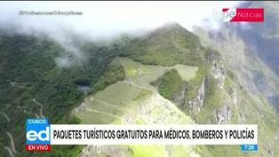 Cusco: médicos, policías y bomberos accederán a paquetes turísticos gratuitos