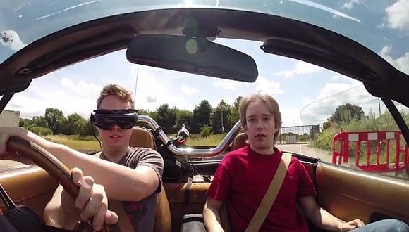 Se puede conducir un auto desde la perspectiva de un videojuego