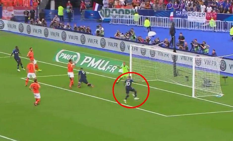 Francia vs. Holanda: Mbappé marcó gol del 1-0 por la UEFA Nations League. (Foto: Captura de video)