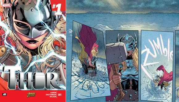 Marvel publica nuevas imágenes de Thor como mujer