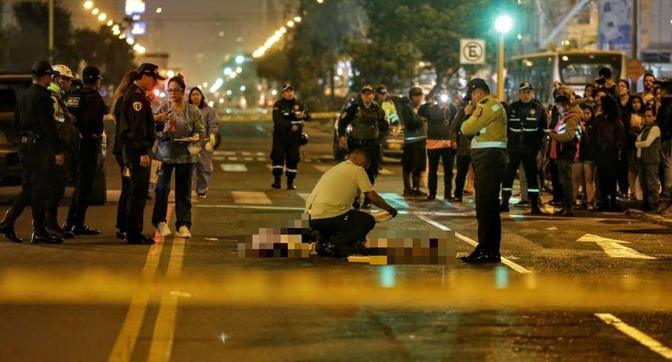 El atropello ocurrió en la avenida Brasil, en Jesús María. (Foto: César Bueno/Diario Correo)