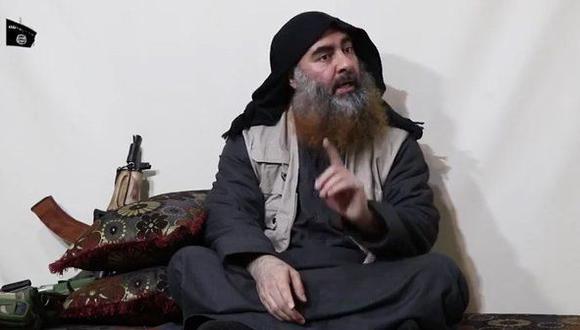 La última aparición pública de Abu Bakr al Baghdadi fue a través de un video. (AFP).