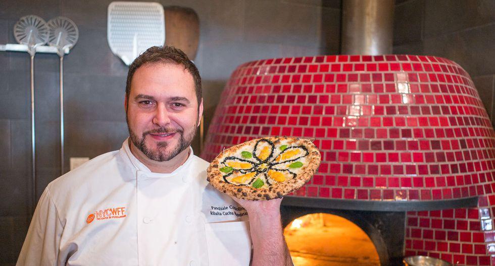 """""""Si a un napolitano le llevas una pizza con piña es como una herejía. Es ilegal [risas]. Pero es por una cuestión de tradición. En cuanto a mí, prefiero no ponerle encima nada que haya sido frito"""", explica. (Archivo personal)"""