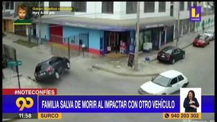 Surco: Familia se salva de morir tras choque y dar vuelta de campana