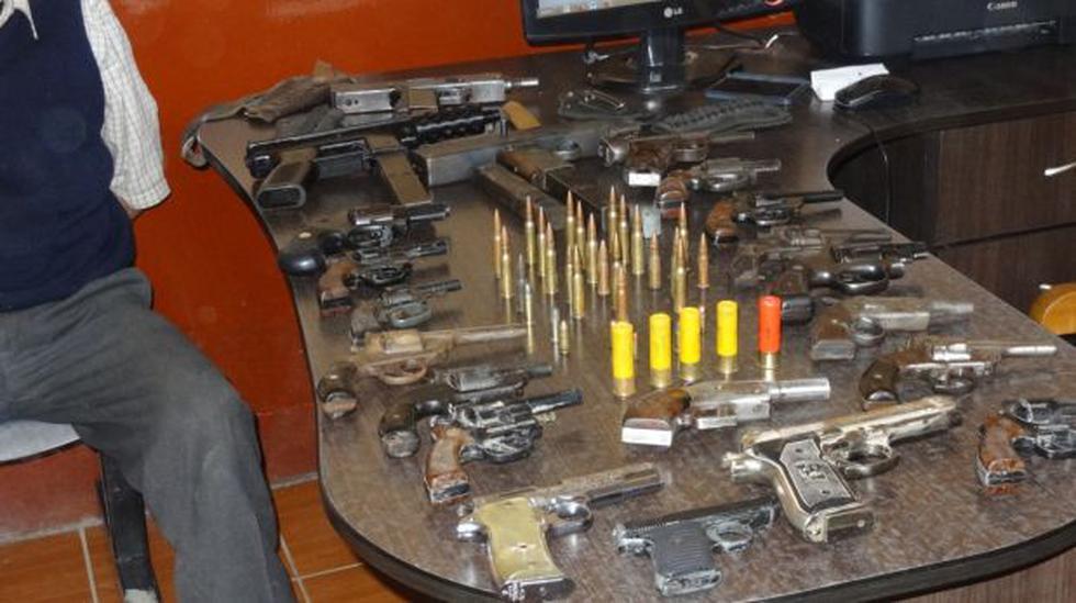 Policía incautó armamento de guerra en Bambamarca - 4