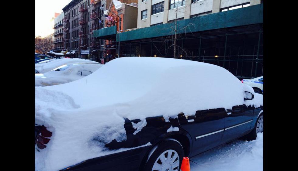 Tormenta Hércules: lectores de El Comercio comparten imágenes de la intensa ola de frío que se vive en Nueva York  - 1
