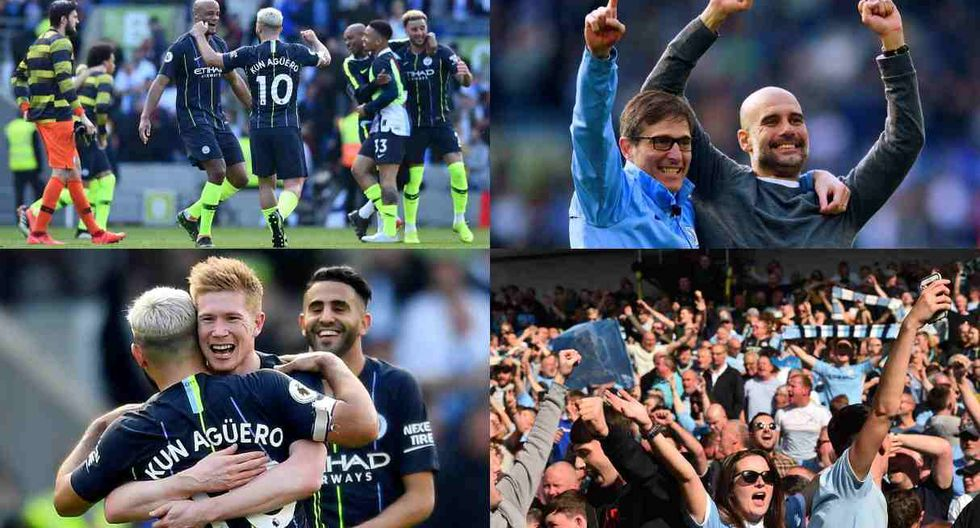 Manchester City campeón de la Premier League temporada 2017-18 (Foto: AFP)