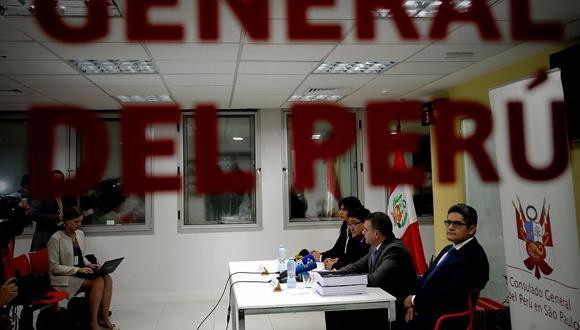 Tras la firma del acuerdo, los procuradores Silvana Carrión y Jorge Ramírez participaron en una conferencia de prensa junto a los fiscales del equipo especial Rafael Vela y José Domingo Pérez. (Foto: EFE)