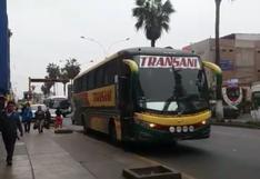Buses interprovinciales usan pista para abordaje de pasajeros