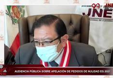 """Salas Arenas: """"Hay que aceptar la decisión del JNE"""" sobre los pedidos de nulidad y apelaciones de Fuerza Popular"""