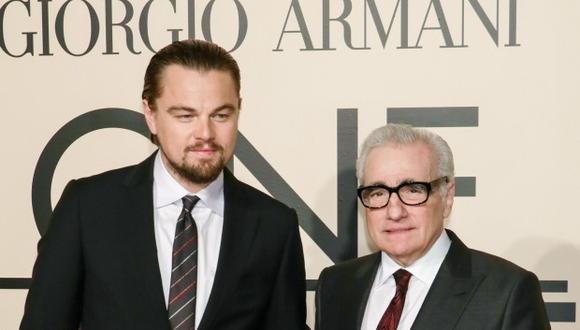 Leonardo DiCaprio y Martin Scorsese. (Foto: AFP)
