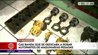 El Agustino: capturan a banda dedicada a robar autopartes de maquinaria pesada