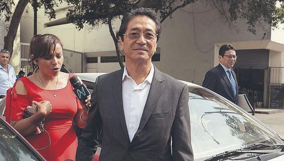 Jaime Yoshiyama afrontará ahora la investigación bajo arresto domiciliario. El PJ dispuso además el pago de una caución de 70 mil soles, que se deberá cancelar en un plazo de tres días hábiles. (Foto: GEC)