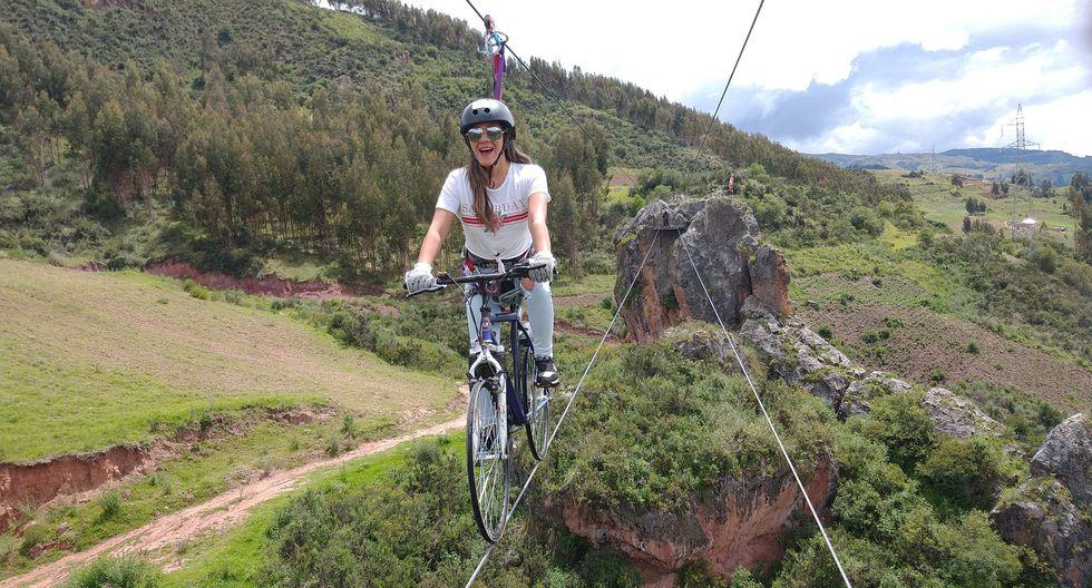 El circuito consiste en atravesar un cañón montado de una bicicleta, y combina skybike, rapel y escalada de roca. ¿El costo?  Desde S/140 con  la empresa Skybike Cusco.