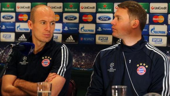 "Robben: ""Neuer merecería el Balón de Oro pero no voté por él"""