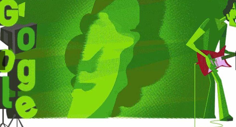 El músico y poeta argentino Luis Alberto Spinetta (1950-2012) fue la imagen del doodle de Google el jueves 23 de enero de 2020, con motivo de conmemorarse el 70 aniversario del natalicio del artista. (Foto: Captura de pantalla)