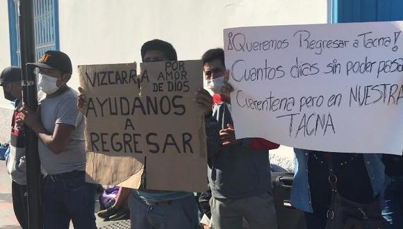 El cónsul del Perú en Arica informó que el gobierno peruano atiende a unos 600 compatriotas con alimentos y alojamiento en Arica. (Foto: Municipalidad de Arica)