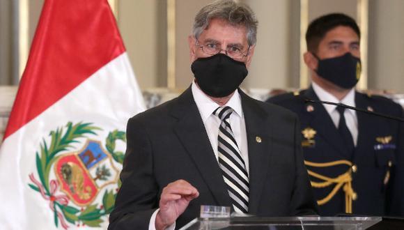 Presidente Francisco Sagasti afirmó que no se le dará tregua al terrorismo. (Foto: Twitter archivo @presidenciaperu)