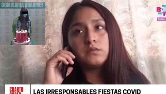 Nicole Medina Sánchez afirmó que nadie le ha ofrecido disculpas tras ser fotografiada junto a su torta de cumpleaños en la comisaría de Huarmey. (Cuarto Poder)