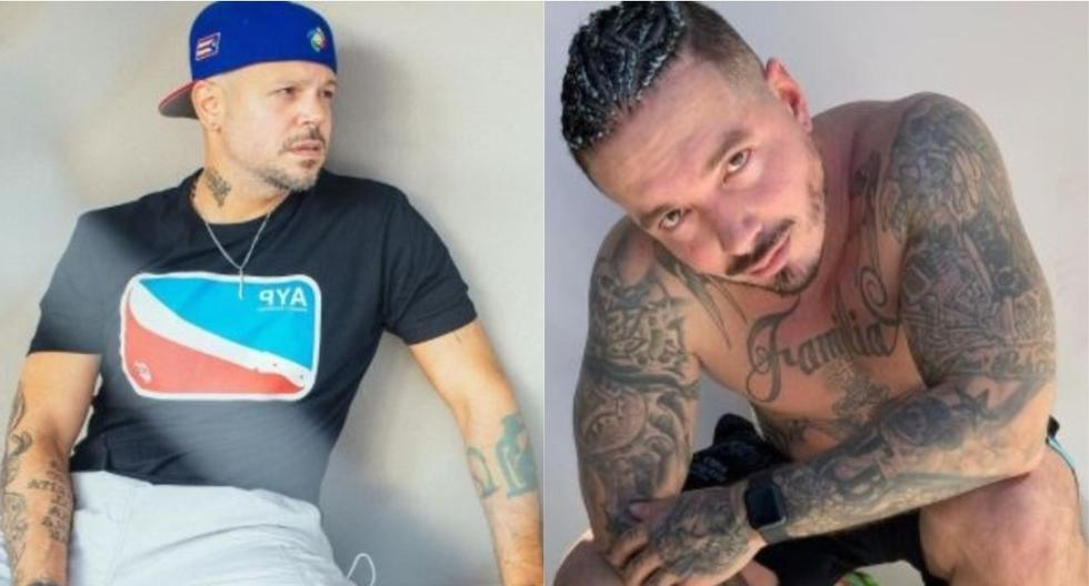 J Balvin responds to the controversy with Residente posing next to a hot dog cart