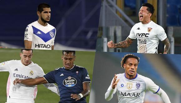 Los seleccionados nacionales suman protagonismo en sus equipos para ser considerados por Ricardo Gareca en las Eliminatorias Qatar 2022. (Fotos: AFP)