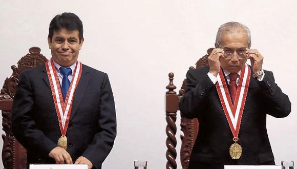Se mantienen en sus sillas en la Junta de Fiscales Supremos Tomás Aladino Gálvez y Pedro Gonzalo Chávarry. (GEC)