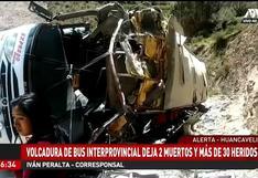 Huancavelica: vuelco de bus interprovincial dejó tres muertos y más de 30 heridos | VIDEO