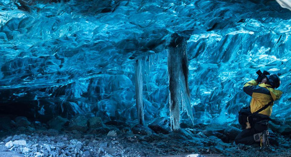Deslúmbrate con estas hermosas cuevas de hielo en Islandia - 1