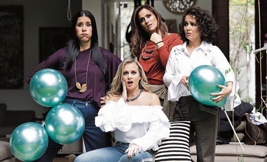Las protagonistas de la obra: Gianella Neyra, Alexandra Graña, Érika Villalobos y Rossana Fernández Maldonado. (Foto: Anthony Niño de Guzmán)