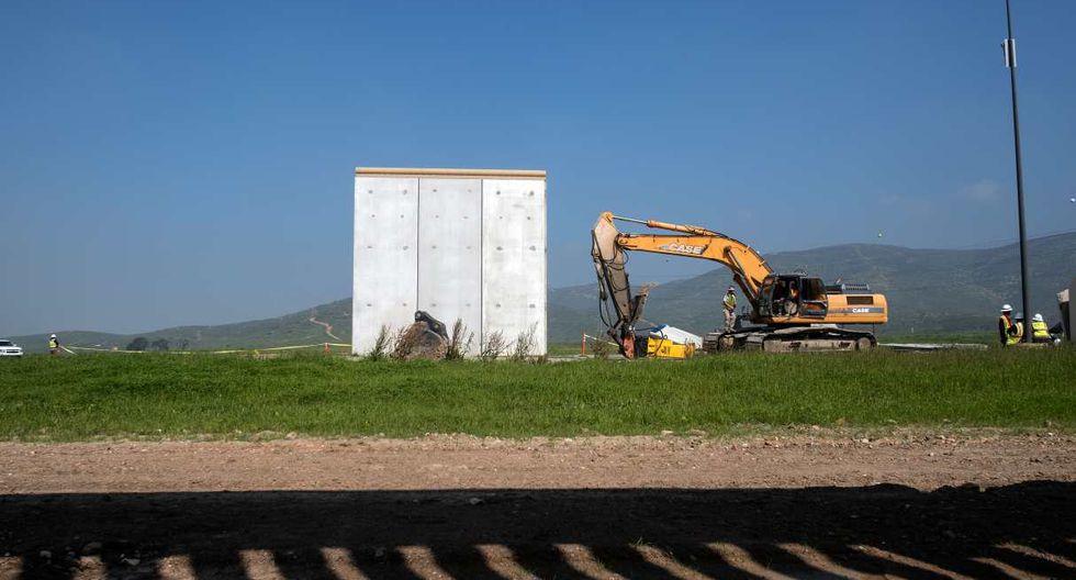 El gobierno estadounidense dijo que los prototipos cumplieron su función, que consistía en explorar nuevos diseños y atributos para el muro fronterizo. (Foto: AFP)