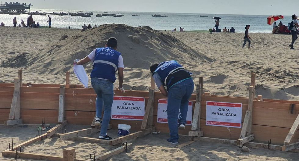 La Municipalidad de Lima paralizó obra en la playa Agua Dulce. (Difusión)