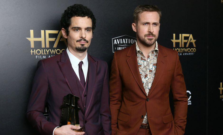"""Damien Chazelle y Ryan Gosling, director y actor de """"First Man"""" (Foto: Reuters)"""