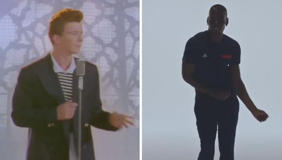 Divertido video pone a bailar a Pogba al ritmo de Rick Astley