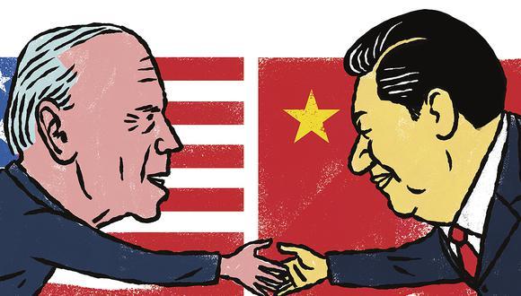 El mundo está a la expectativa de cómo será la relación ahora entre el presidente electo de Estados Unidos, Joe Biden, y el mandatario chino, Xi Jinping. (Ilustración: Víctor Aguilar)
