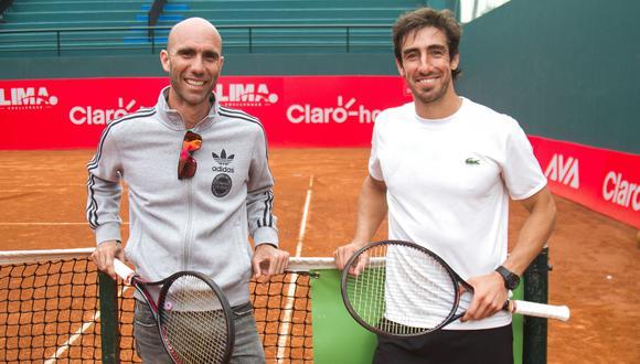 Ambos estuvieron juntos en el ATP Lima 2018. (Foto: Eduardo Cavero / El Comercio)