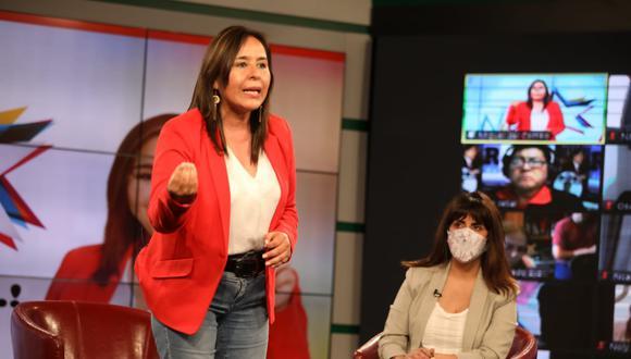 Nidia Vílchez, candidata presidencial del Apra, esperará la decisión del JNE para anunciar si seguirá o no en la carrera electoral. (Foto: Britannie Arroyo)