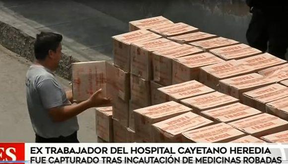 José Morales fue trasladado a una comisaría del sector y negó ser parte de esta organización. (Foto: Captura de 'América Noticias')