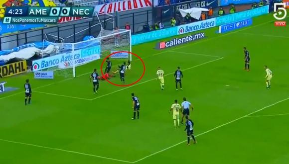 América vs. Necaxa: Henry Martín marcó el 1-0 e hizo estallar el Azteca. (Foto: captura)