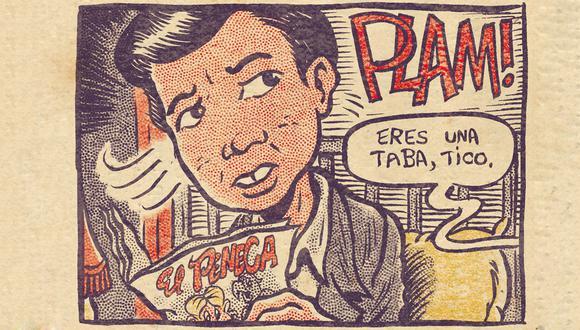 """Viñeta para el cómic de """"La ciudad y los perros"""", por Manuel Gómez Burns."""