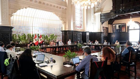 La presentación de integrantes del Ejecutivo se realizará  en la Sala Acuerdo Nacional, sede de la Presidencia del Consejo de Ministros (PCM), desde las 5:00 p.m. (Foto: Presidencia)