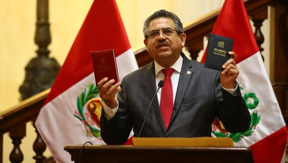 Manuel Merino de Lama asumió el poder luego de la destitución de Vizcarra. (Foto: Hugo Curotto | GEC)