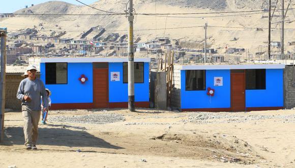 as viviendas son de aproximadamente 40 metros cuadrados y cuentan con dos dormitorios, un baño y un espacio multiusos.(Foto: Johnny Aurazo)